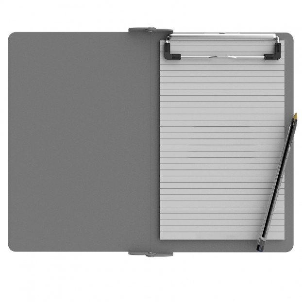 Folding Memo ISO Clipboard | Silver