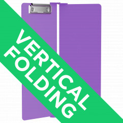 Lilac Vertical ISO Clipboard