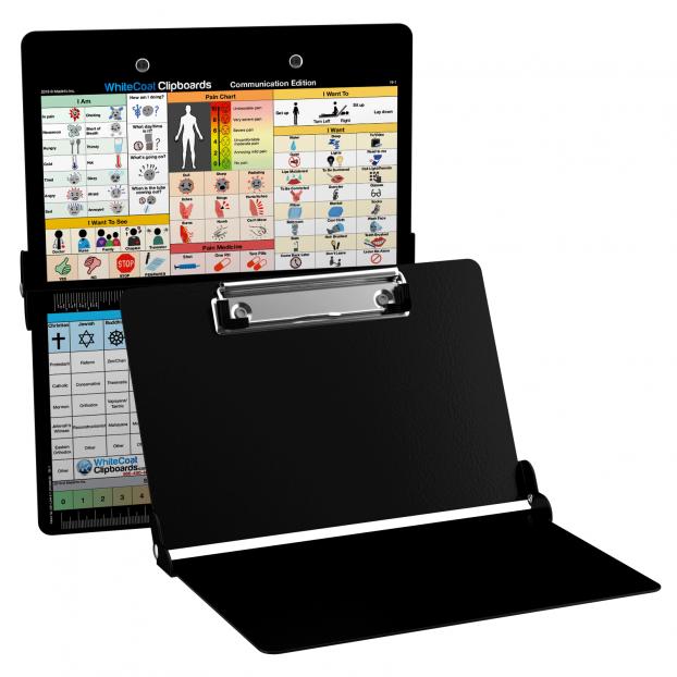 WhiteCoat Clipboard - Black - Care & Communication Edition