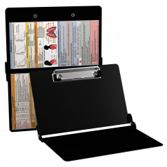 WhiteCoat Clipboard - BLACK - Respiratory Edition