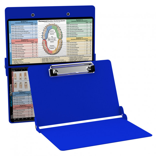 WhiteCoat Clipboard - BLUE - Dental Edition