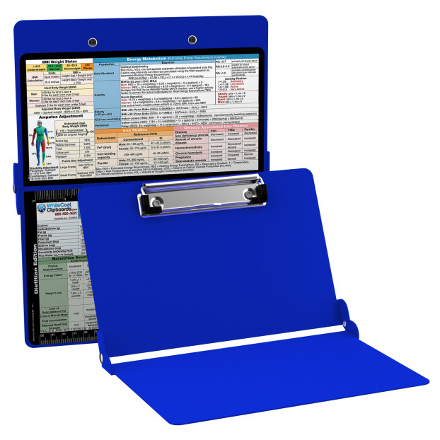 WhiteCoat Clipboard - BLUE - Dietitian Edition