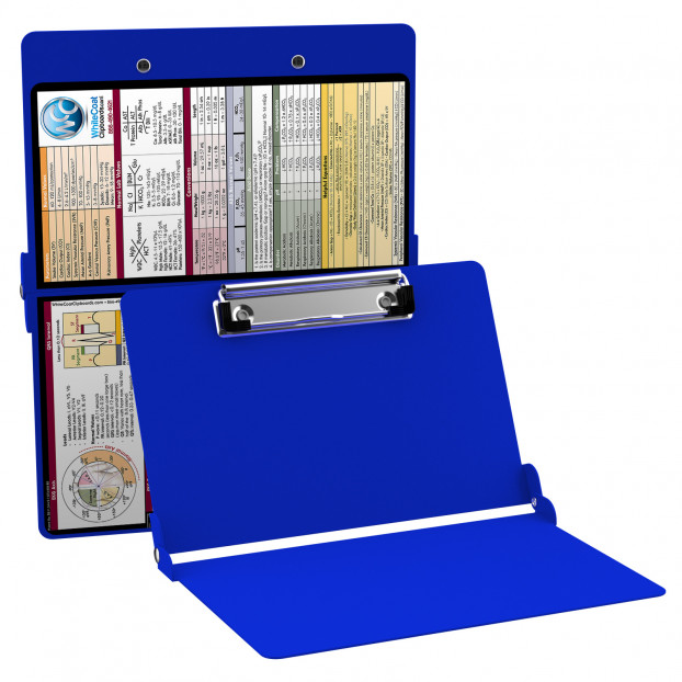 WhiteCoat Clipboard - BLUE - Medical Edition - Slightly Damaged