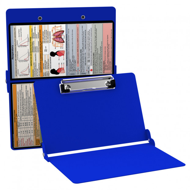 WhiteCoat Clipboard - BLUE - Respiratory Edition
