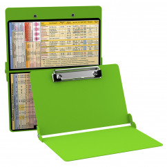 WhiteCoat Clipboard - LIME GREEN - Anesthesia Edition
