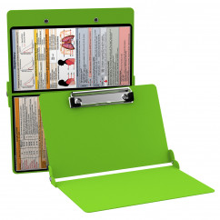 WhiteCoat Clipboard - LIME GREEN - Respiratory Edition
