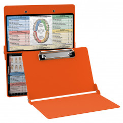 WhiteCoat Clipboard - ORANGE - Dental Edition
