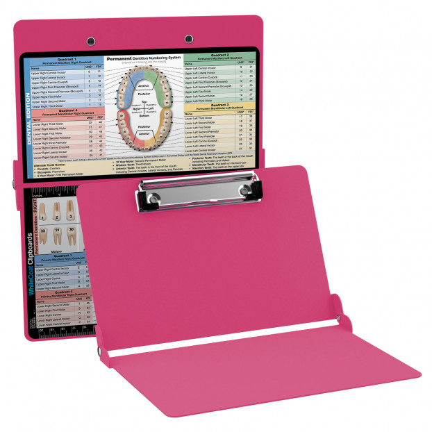 WhiteCoat Clipboard - PINK - Dental Edition