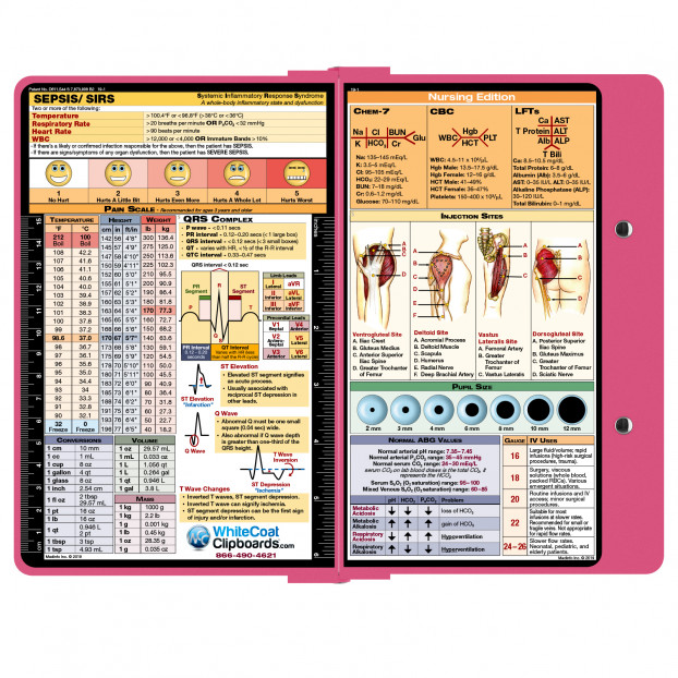 WhiteCoat Clipboard PINK Nursing Edition