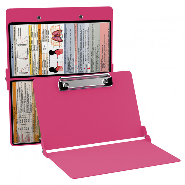 WhiteCoat Clipboard - PINK - Respiratory Edition