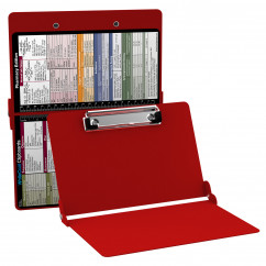 WhiteCoat Clipboard - RED - Pharmacy Edition - Slightly Damaged