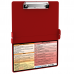 WhiteCoat Clipboard - RED - Physical Therapy Edition
