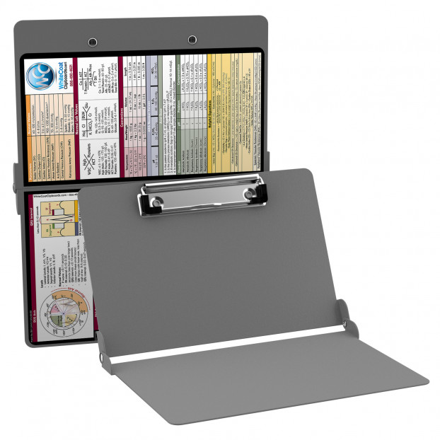 WhiteCoat Clipboard - SILVER - Metric Medical Edition