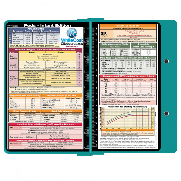 Clipboard - TEAL - Pediatric Infant Edition