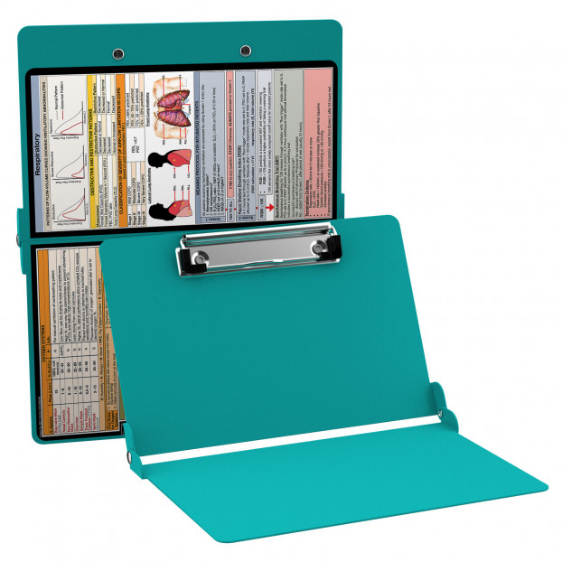 WhiteCoat Clipboard - TEAL - Respiratory Edition