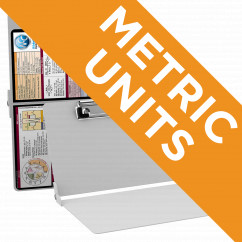 WhiteCoat Clipboard - WHITE - Metric Medical Edition