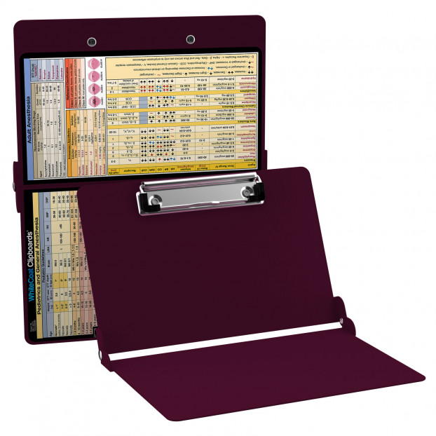 Vertical Wine Anesthesia Edition WhiteCoat Clipboard