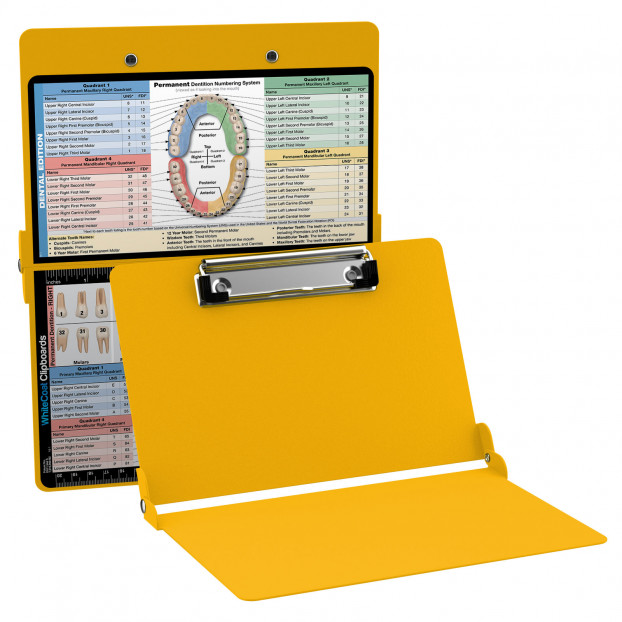 WhiteCoat Clipboard - YELLOW - Dental Edition