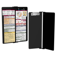 WhiteCoat Clipboard - Vertical - Black - Medical Edition