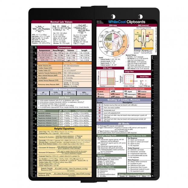 WhiteCoat Clipboard - BLACK Vertical - Medical Edition