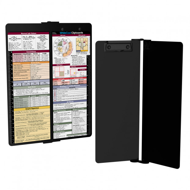 WhiteCoat Clipboard - Vertical - Blackout - Medical Edition