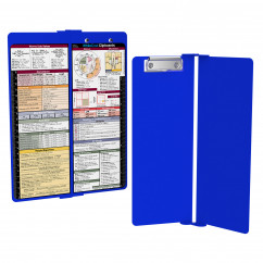 WhiteCoat Clipboard - Vertical - Blue - Medical Edition