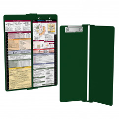 WhiteCoat Clipboard - Vertical - Green - Metric Medical Edition