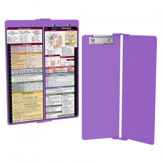 WhiteCoat Clipboard - Vertical - Lilac - Medical Edition