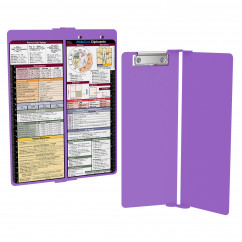 WhiteCoat Clipboard - Vertical - LIlac - Metric Medical Edition