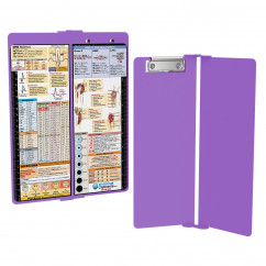 WhiteCoat Clipboard - Vertical - LILAC - Metric Nursing Edition