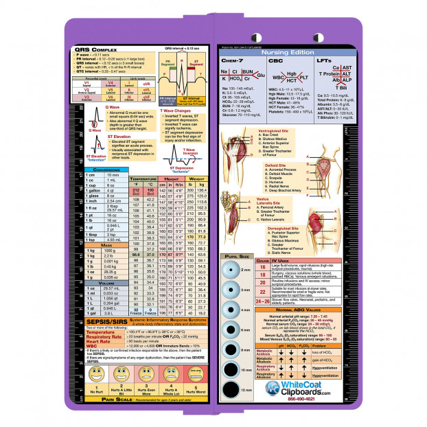 Clipboard - Vertical - Lilac - Nursing Edition