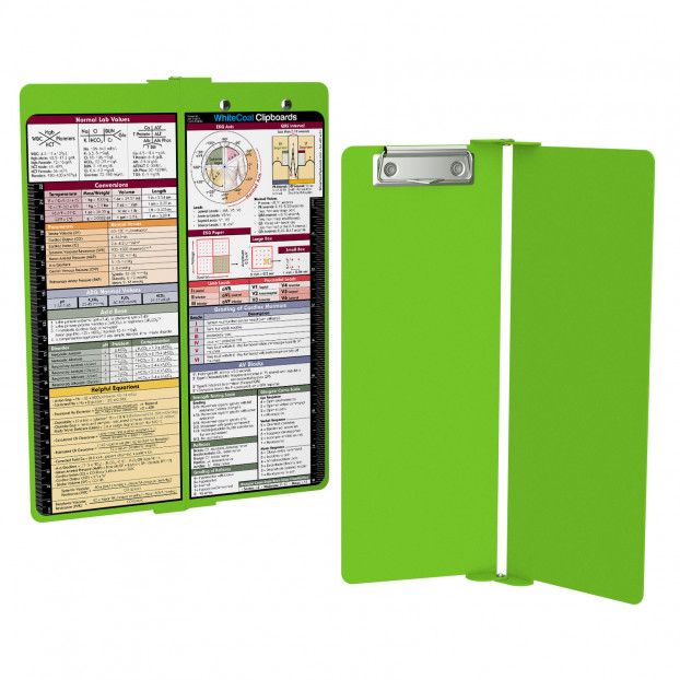 WhiteCoat Clipboard - Vertical - LIME GREEN - Medical Edition