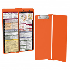 WhiteCoat Clipboard - Vertical - Orange - Medical Edition