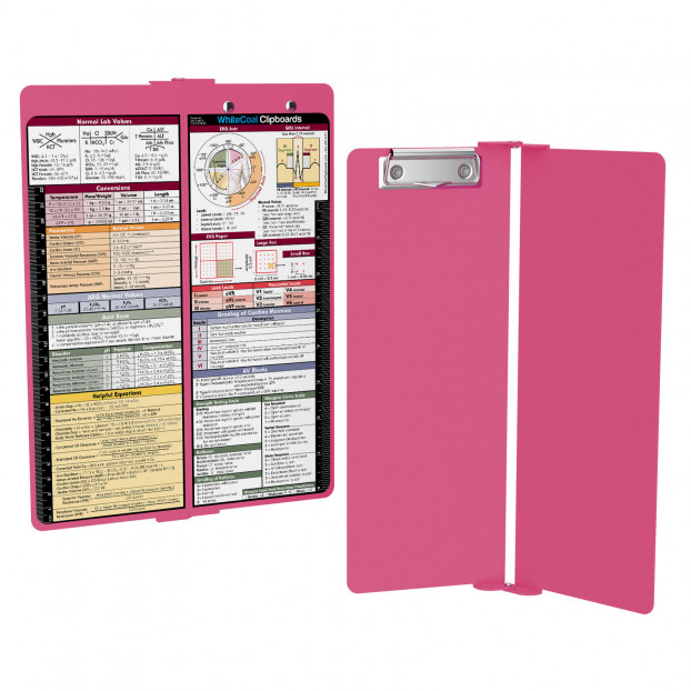 WhiteCoat Clipboard - Vertical - Pink - Medical Edition