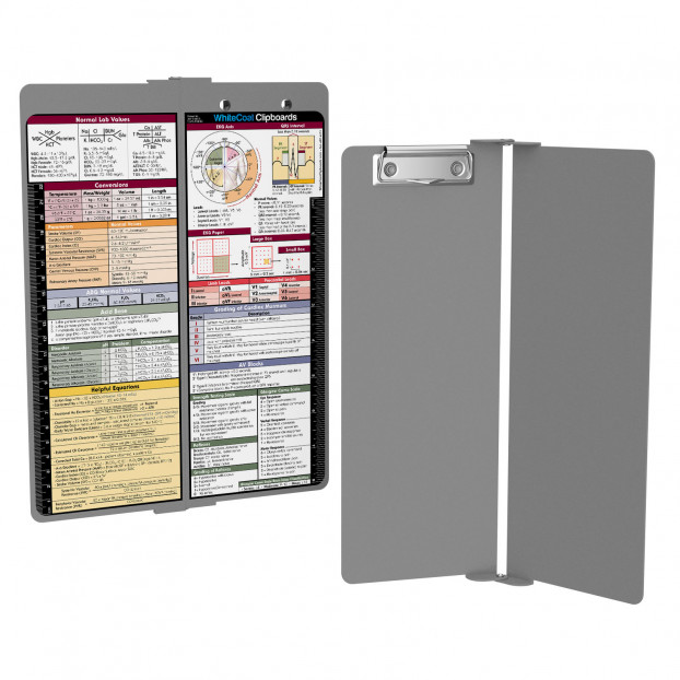 WhiteCoat Clipboard - Vertical - Silver - Medical Edition