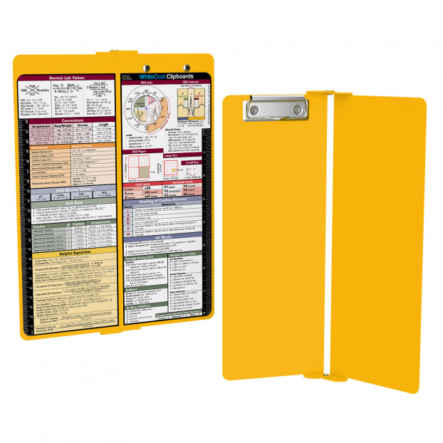 WhiteCoat Clipboard - Vertical - Yellow - Metric Medical Edition