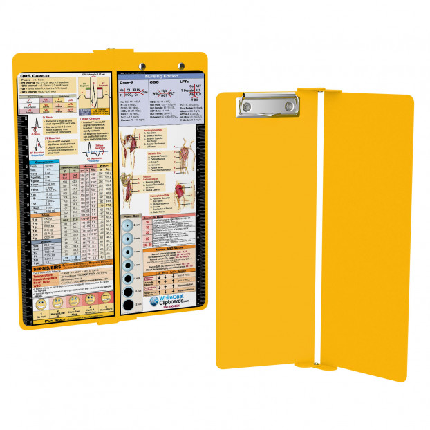 WhiteCoat Clipboard - Vertical - Yellow - Nursing Edition