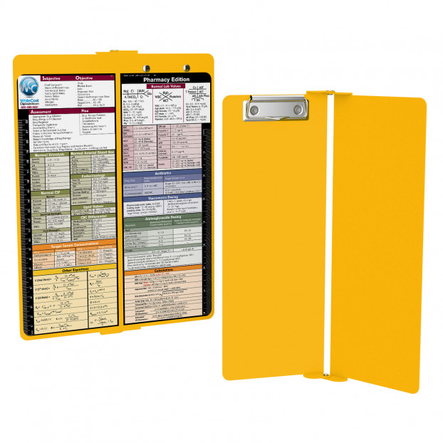 WhiteCoat Clipboard - Vertical - YELLOW - Pharmacy Edition