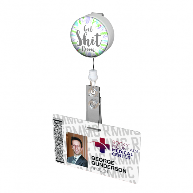 Get Shit Done Button Badge Reel