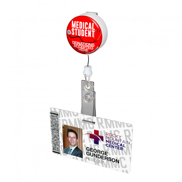 Medical Student Donations Button Badge Reel