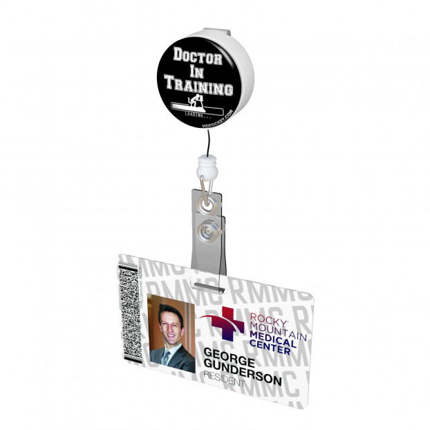 Doctor in Training Button Badge Reel
