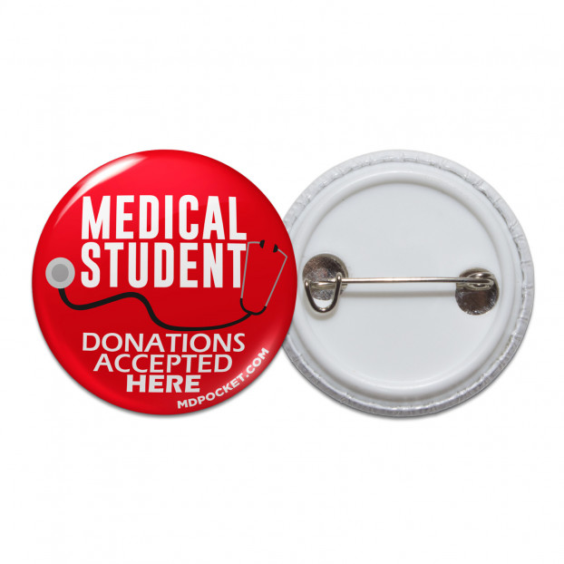 Medical Student Donations Pinback Button
