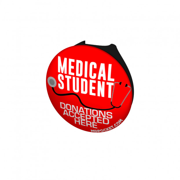 Medical Student Donations Stethoscope Button
