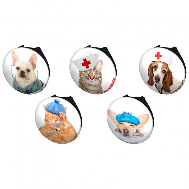 Cats And Dogs Stethoscope Button Pack