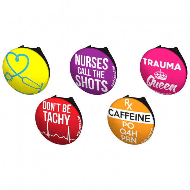 Witty Nurse Stethoscope Button Pack