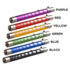 Metallic Penlight with Pupil Gauge