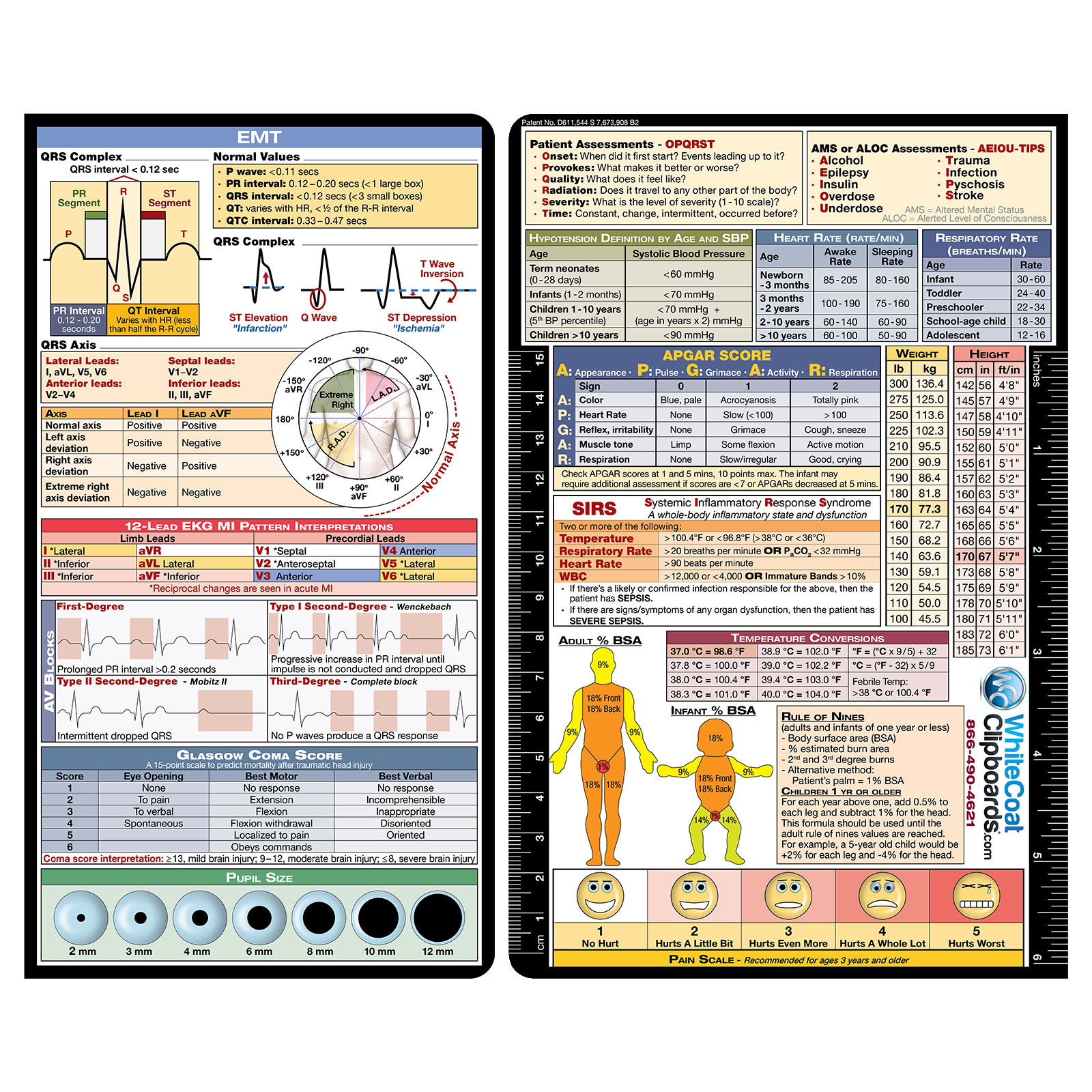 WhiteCoat Clipboard Medical Label