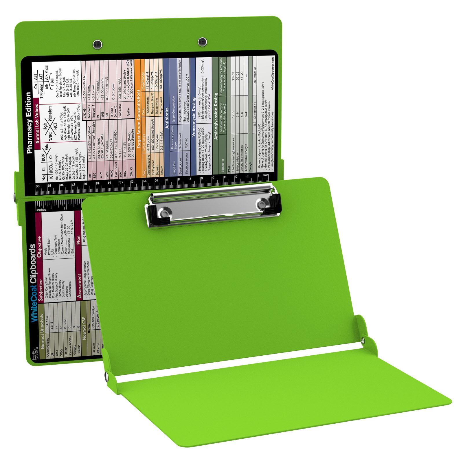 e2745fb0a1f4 WhiteCoat Clipboard - LIME GREEN - Pharmacy Edition